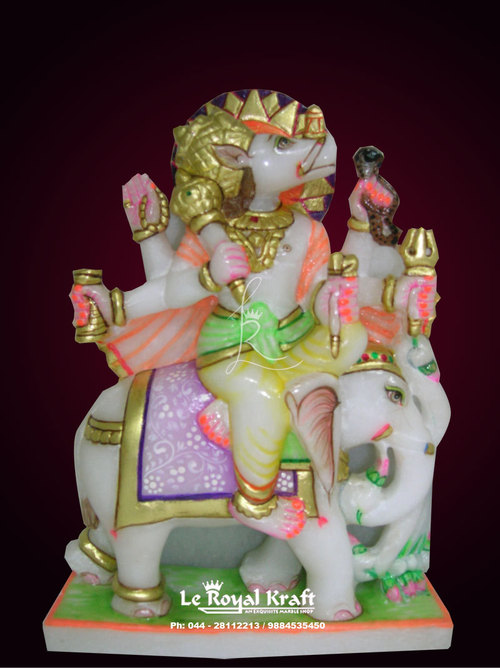 Marble Manibhadra Statue