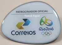 Printed metal badge