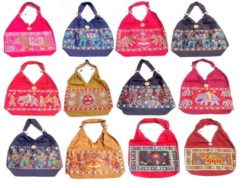 Traditional Indian Printed Cotton Bag