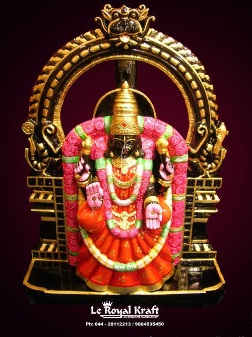Black Marble Padmavati Idol