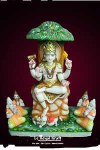 Marble Dakshinamurti Statue