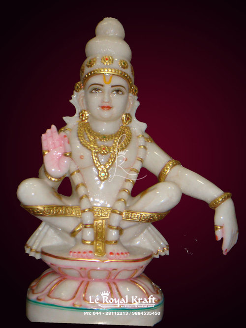 Marble Lord Ayyapa Statue