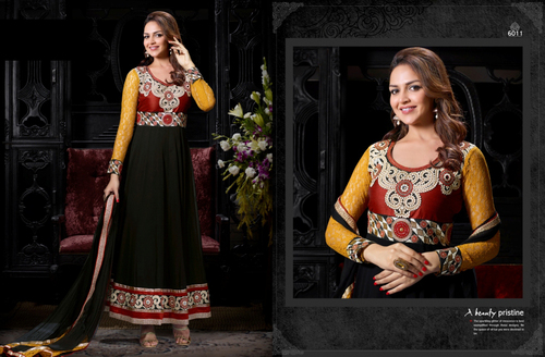 Georgette Anarkali Suit Esha Deol