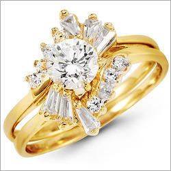 Designer Gold Diamond Ring