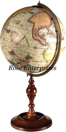 Wooden Base Globe