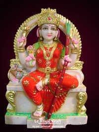 Marble Rajarajeshwari Statue