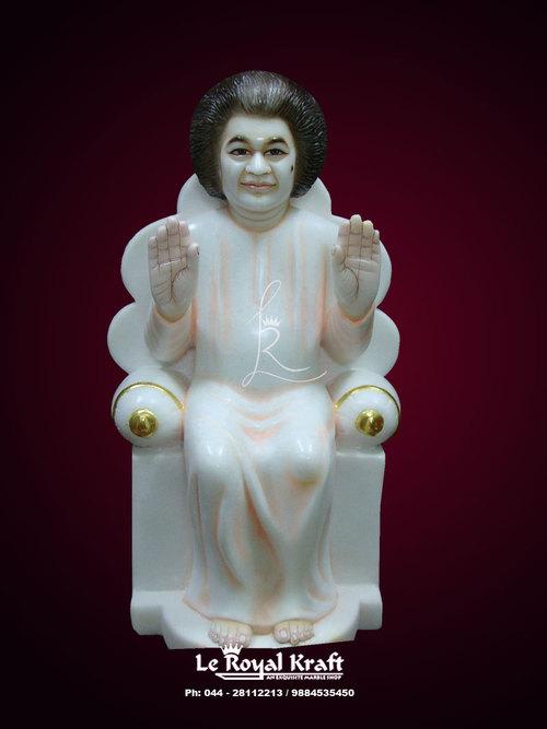 Marble Satyasai Statue