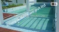 Swimming pool tiles work