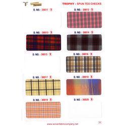 French Terrain Spun Tex Checks Fabric