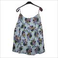 Blue Flower Printed Skirt