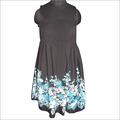 Turq. Flower Printed Dress