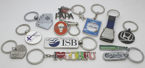 Printed Metal Key Chains