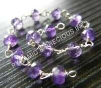 Amethyst Beaded Chain Selling Per Meter