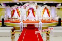 Indian Wedding Wooden Peacock Mandap
