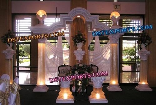 WEDDING LIGHTED ROMAN STAGE SET