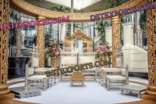 WEDDING GOLDEN CARVING STAGE SET