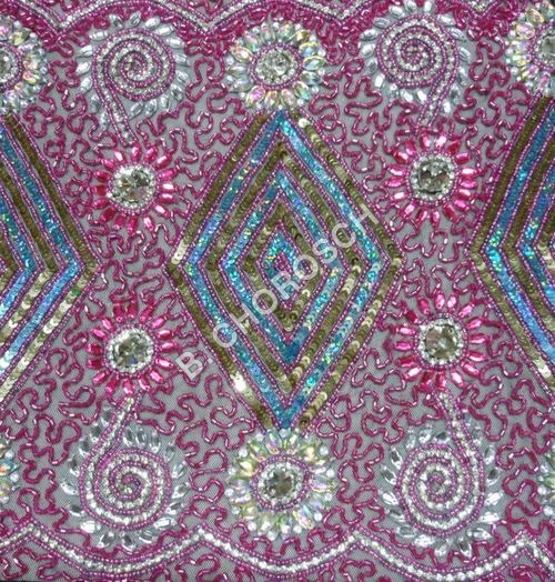 Beaded Embroidered Fabric