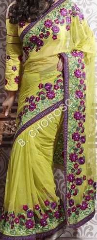 Partywear Embroidered Sarees