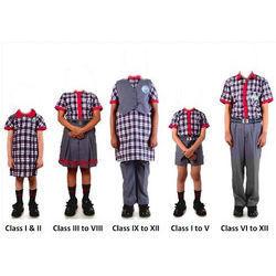 KV School Uniform Red Lining Fabric