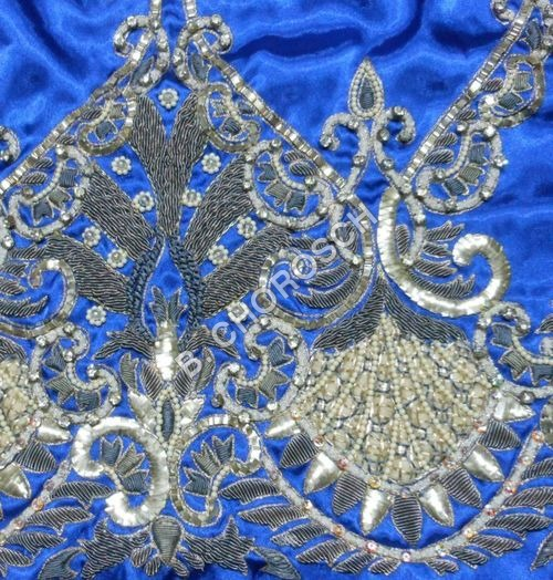 Embroidered Bullion Work Fabric