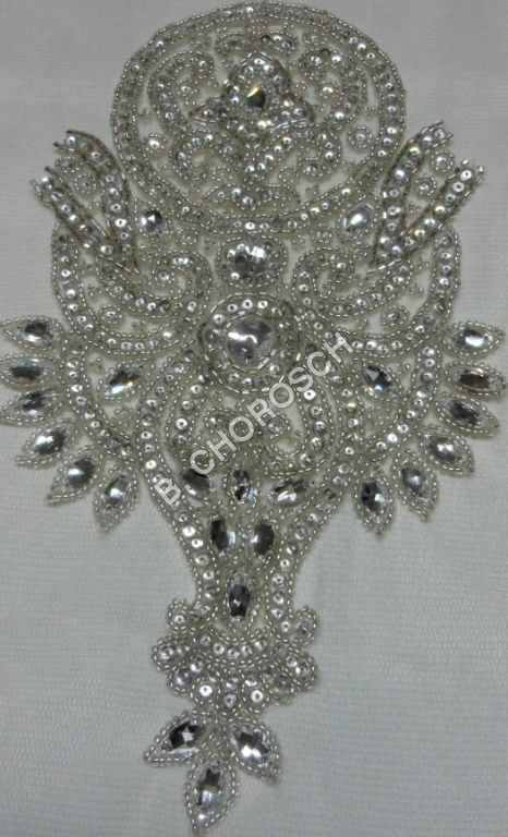 Embroidered Crystal Stone Work