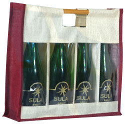 Four Bottle Clearfront Wine Bag