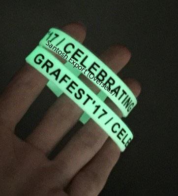 Neon Glow in Dark Silicone Wristband