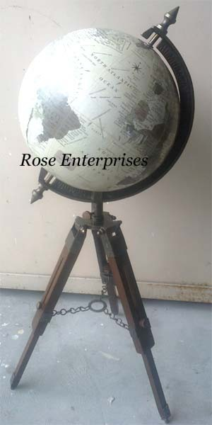 Globe With Telescope Stand