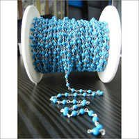 Turquoise Beaded Chain Selling Per Meter