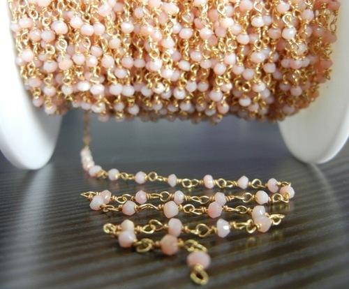 Pink Opal Beaded Chain