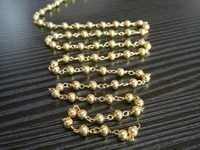 Gold Plated Metal Beaded Chain