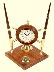 Pen Holder Stand Clock