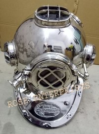 Nickel Plated Home Decor Mark V Diving Helmet