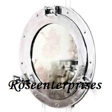 Nickel Porthole Mirror