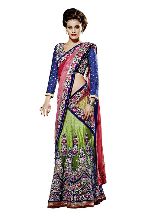 Designer Bridal Lahenga Saree