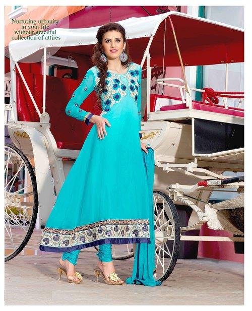 Designer Anarkali Georgette Salwar Kameez