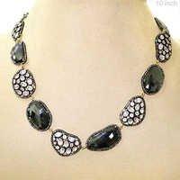 Moonstone Black Spinel Diamond Necklace
