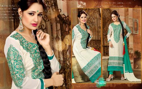 Designer Krachi Style Pure Georgette Salwar Suit