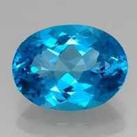 Natural Semi-Precious Blue Topaz gemstone