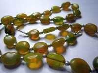 Original Yellow opal oval Beads