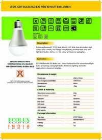 LED Light Bulb Series Model A60 E27 PRO