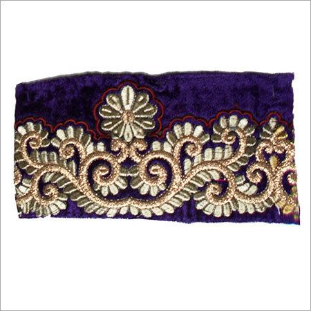 Fancy Velvet Embroidery Border