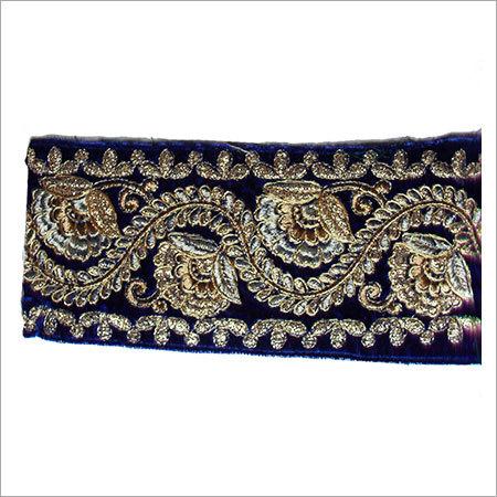 Designer Velvet Embroidery Border