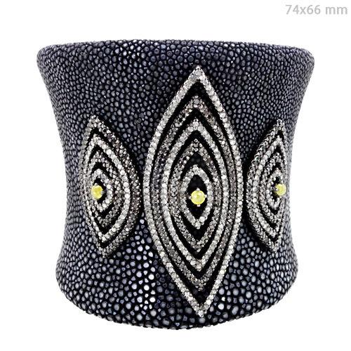 Silver Stingray Diamond Bracelet Jewelry