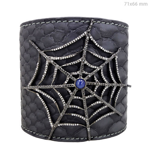 Diamond Pave Leather Jewelry