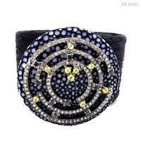Pave Diamond Silver Bracelet