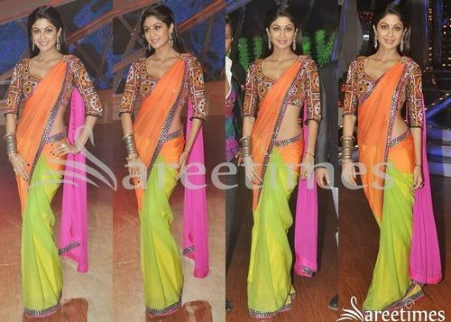 Shilpa Shetty Bollywood Style Saree