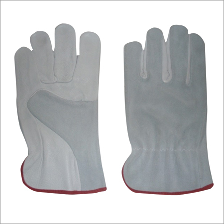 Leather Combined Driving Gloves