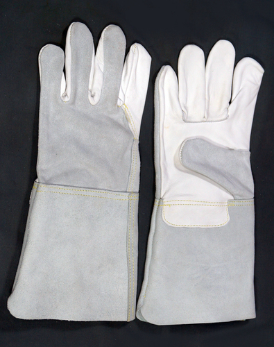 Grain Palm & Split Leather Back Welding Gloves