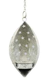 Elegant Wall or Tree Hanging Tea Light Candle Holder Seasonal Home Decor